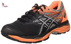 Asics Cumulus 18 G TX, Chaussures de Running Homme, Noir (Black/Silver/Hot Orange), 45 EU - Chaussures asics (*Partner-Link)