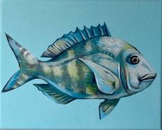 "Daily Paintworks - ""Porgy Painting"" - Original Fine Art for Sale - © Sara Simboli"