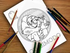 Mulan Coloring Pages Pdf : The hunchback of notre dame coloring pages google søgning