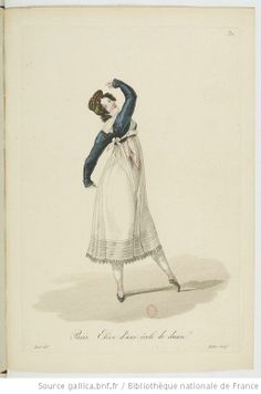 Costumes d'ouvrières parisiennes / par Gatine - 36- the shortest regency gown I've ever seen.