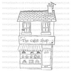 134 cake shop digital stamp