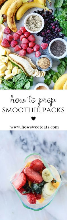 How to prep homemade smoothie packs for the week ahead! by @howsweeteats I howsweeteats.com