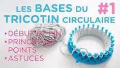 The basics of loom knitting. The basics of round loom knitting: - The slipknot - The first row - The main stitches - The last row - Attach 2 balls of yarn - Double or triple the thread for beginners Round Loom Knitting, Loom Knitting Stitches, Loom Knitting Projects, Circular Knitting Needles, Easy Knitting, Knifty Knitter, Sock Knitting, Knitting Tutorials, Knitting Machine