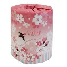桜トイレットペーパー What pretty toilet paper packaging PD
