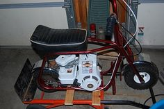 1966 Lil' Indian Mini Bike Briggs, 2 speed automatic Mini bikes like this are what I rode as a kid. And they were friggin' awesome! Minibike, Bike Frame, Go Kart, My Ride, Scooters, Cars Motorcycles, Cool Cars, Madness, Trail