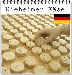 QUEIJO:  Nieheimer Käse ALEMANHA : Renania do Norte-Westfalia LEITE: Vaca CL ASSIFICAÇÃO: fresco
