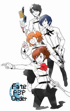 Best Crossover, Anime Crossover, Persona 3 Portable, Shin Megami Tensei, Fate Servants, Fate Anime Series, Type Moon, Fate Stay Night, Yandere