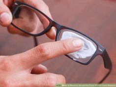 How to Remove Scratches From Plastic Lens Glasses. There is nothing worse than putting on your glasses and realizing that you still can't see clearly because the lenses are covered in scratches. If you have glasses with plastic lenses you. Simple Life Hacks, Useful Life Hacks, Fix Scratched Glasses, Toilet Paper Crafts, Eyeglass Lenses, Wearing Glasses, Tips Belleza, Cleaning Hacks, Helpful Hints