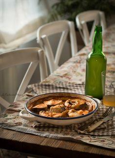 Merluza en salsa de oricios - Hake with sauce
