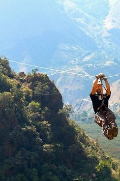 Soar over the Sacred Valley on The Eye of the Jaguar Zipline in Peru. | 11 Amusement Rides You Must Go On Before You Die