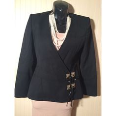 Claude Montana Paris Vintage Black Blazer Made in Italy - Great detail on blazer, must see pictures Claude Montana  Jackets & Coats Blazers