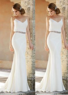 white prom dresses mermaid ball gowns Straps Floor-length prom dress Chiffon party dress sold by Fantasy on Storenvy Wite Prom Dresses, Bodycon Prom Dresses, Mermaid Prom Dresses, Evening Dresses, Wedding Dresses, Different Dresses, Handmade Dresses, Chiffon Dress, Party Dress