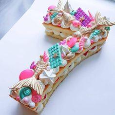 Number Birthday Cakes, 13 Birthday Cake, Mermaid Birthday Cakes, Birthday Cakes For Women, Number Cakes, Mermaid Cakes, Cakes For Men, Mermaid Cupcake Cake, Mermaid Tail Cake