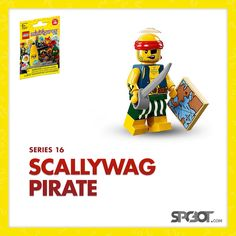 Lego Scallywag Pirate Minifigure Series 16 - NEW SEALED IN BAG - SHIPS FAST #LEGO