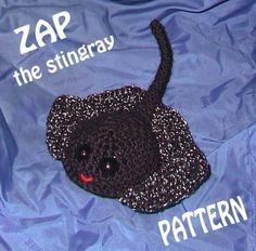 PATTERN  ZAP the Stingray amigurumi by theselovinghands on Etsy (Craft Supplies & Tools, Patterns & Tutorials, Fiber Arts, Crochet, animal, stingray, ocean, etsyhookers team, plush, toy, ray, fish)