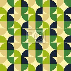 Vinilo Patrón abstracto sin fisuras Retro Geometric Patterns, 60s Patterns, Wall Patterns, Geometric Art, Fabric Patterns, Print Patterns, Pattern Wall, Surface Pattern Design, Motif Vintage
