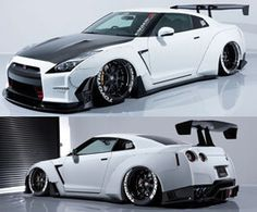 Nissan GTR body kit by AIMGAIN. Stunning gran touring style wide body kit for Nissan GTR R35 Gtr, Nissan Gtr R35, Nissan Gtr Skyline, Nissan Altima, Wide Body Kits, Nissan Rogue, Sweet Cars, Dream Cars, Exotic Cars
