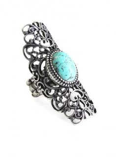 Center of Attention Ring $12.00. I Have an Obsession With Turquoise Rings.