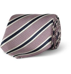 Paul Smith Shoes & Accessories Striped Woven-Silk Tie | MR PORTER