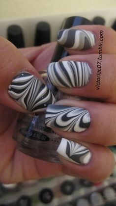 Matte Water Marble i wish i had the patients for this, cause i would so do it if i did.