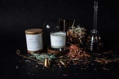 We love the earthiness and stark simplicity of the labels, which crosses over to sleek and elegant. Taking on a minimalist approach with modern fonts creates a context that suggests that it is medicinal (read: therapeutic) and not merely a candle.