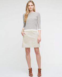 Clean Cotton Utility Skirt