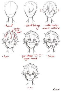 Discovered by The Quirk Kid. Find pictures and videos about .-Entdeckt von The Quirk Kid. Finden Sie Bilder und Videos über süße, Anime und… Discovered by The Quirk Kid. Find pictures and videos about cute, anime and awesom … - Drawing Male Hair, Guy Drawing, Drawing Tips, Anime Hair Drawing, Drawing Faces, Drawing Ideas, Drawing Anime Bodies, Manga Drawing Tutorials, Manga Tutorial