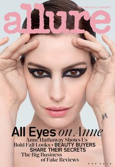 "Anne Hathaway covers the September 2019 issue of Allure magazine photographed by Sølve Sundsbø. On weight in Hollywood: ""At 16 years old, it Anne Hathaway, Need To Lose Weight, Weight Gain, Tapas, Wanted Movie, Michelle Lee, How To Make Sushi, All About Eyes, Loreal Paris"