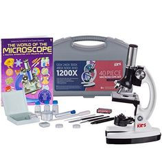 AMSCOPEKIDS Metal Arm Educational Starter Biological Microscope Kit Book ** Continue to the product at the image link.