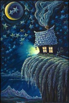 ☮ American Hippie Art ☮ Night