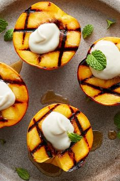 Grilled Peaches with Marscapone Grilled Fruit, Grilled Peaches, Brunch Items, Crunchy Granola, Summer Dishes, My Best Recipe, Game Day Food, Cooking Light, Maple Syrup