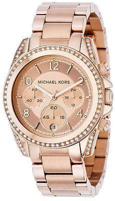 Ladies watches 2016 michael kors Michael Kors Blair Ladies Rose Gold Chronograph Designer Watch MK5263