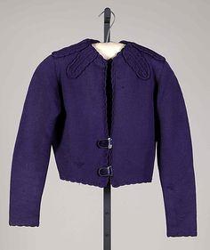 Sweater.  House of Schiaparelli (French, 1928–1954).  Designer: Elsa Schiaparelli (Italian, 1890–1973). Date: ca. 1938. Culture: French. Medium: Wool, plastic.