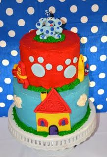 Blues clues cake fondant house
