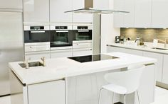 idée de cuisine blanche laquée design