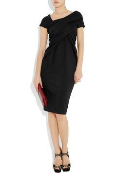 Donna Karan New York   Black Draped Stretch-jersey Dress   Lyst