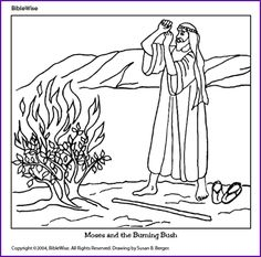 Moses Red Sea Coloring Page
