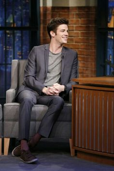 Grant Gustin on Late Night With Seth Myers (October The Flash 2, Dc Comics, The Flash Grant Gustin, Snowbarry, Bae, Iron Man Captain America, Fastest Man, Supergirl And Flash, Flash Arrow