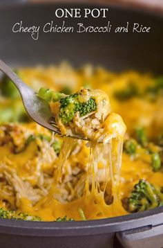 Shredded chicken breast, creamy melted cheese, fragrant garlic, broccoli and rice.... all come together in a one pot meal that is sure to please everyone in the family!