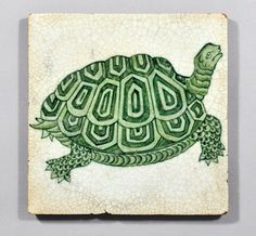 William De Morgan tile - Giant Tortoise | Flickr - Photo Sharing!
