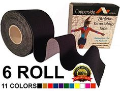 """Professional Grade Kinesiology Tape *FREE Instructional Ebook* Taping to Boost Performance & Heal Pain Faster- 2\""""x16.4' Uncut Athletic Therapeutic Roll for Muscle Support in 11 Sports Colors -- Continue to the product at the image link."""