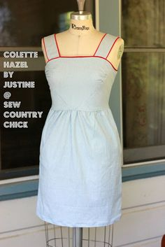 Sew Country Chick: fashion sewing and DIY: My Colette Hazel With Piping