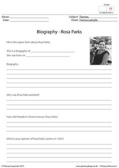 416 best english printable worksheets primaryleap images on why was rosa parks arrested how did president clinton honour rosa parks students are asked to carry out some research and fill in this handy report form spiritdancerdesigns Choice Image