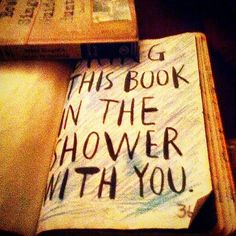 bring this book in the shower with you