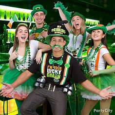 We've got the most charming looks for lucky lads and lassies this St. Paddy's day! Get your green on with printed t-shirts, colorful tutus, over sized hats, shamrocks beads and so much more!