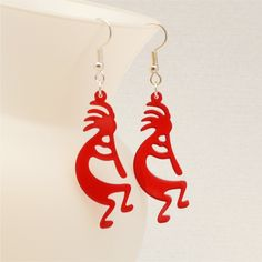 Bunny brooch bunny pin easter bunny jewelry easter gift rabbit laser cut kokopelli earrings fertility god bridal shower gift gifts under 20 gift for negle Images