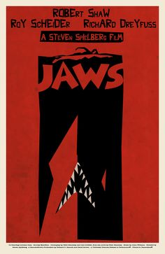 Saul Bass - JAWS - Movie Poster