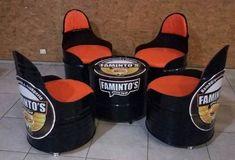 conj 04 poltronas tambor