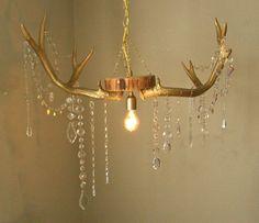 Deer Antler Chandelier.