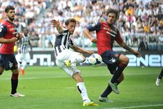 Claudio Marchisio of Juventus scores their third goal during the Serie A match between Juventus and Cagliari Calcio at Juventus Arena on May...